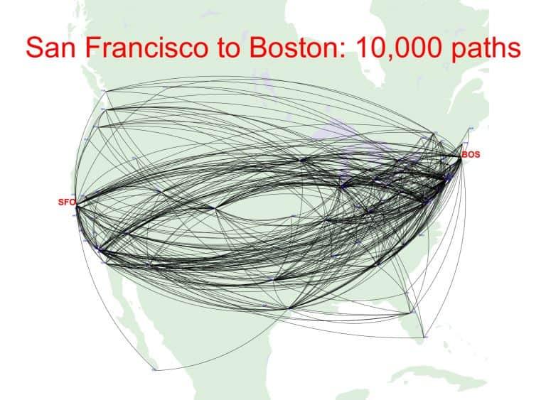 המון אפשרויות לנתיבי טיסה